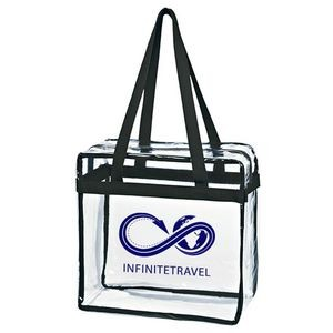 Clear Tote Bag With Zipper